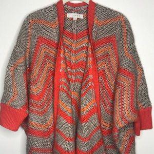 LOFT Gray and Orange Sweater